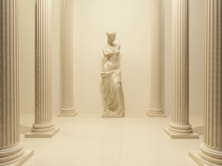 Ancient Statue Of A Nude Venus In The Middle Of Perspective Pill